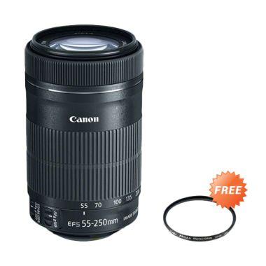 Canon EF-S 55-250mm F4-5.6 IS STM H ...  + Filter uv 58mm jklensa