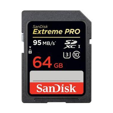 harga SanDisk SDXC Extreme PRO UHS-IU3 Memory Card [64 GB] Blibli.com