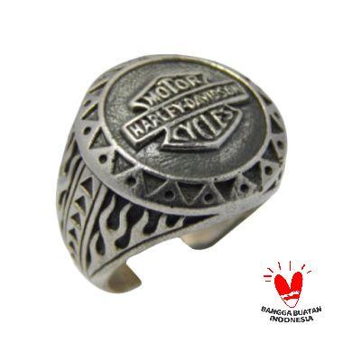 Jnanacrafts motif harley davidson Cincin perak