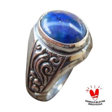 Jnanacrafts Batu Lapiz Lazuli Cincin Perak