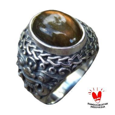Jnanacrafts Motif Boma Batu Labradorite Cincin Perak