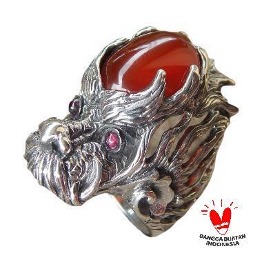 Jnanacrafts Naga Batu Cornelian Cincin Perak