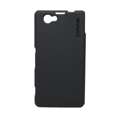 Capdase Soft Jacket 2X Pose D5503 Solid Black Casing for Sony Xperia Z1 Compact