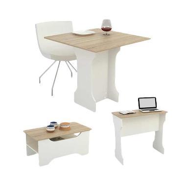 JYSK 3 In 1 Orchad Table - Oak White [80x79x75 cm]