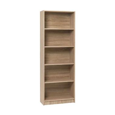 JYSK Bookcase Horsens 5 Shelves Brushed Oak Rak Serbaguna