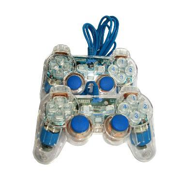 Digigear Gamepad Joystick Double Transparant - Blue