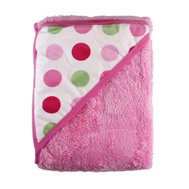 Kalla Topi Carter's Double Fleece Carter Polka Selimut Bayi - Pink