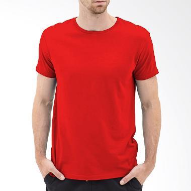 Kaosyes Kaos Polos O-Neck Lengan Pendek T-Shirt - Merah