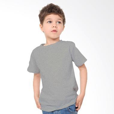 KaosYES Kaos Polos T-Shirt Anak - Abu Misty
