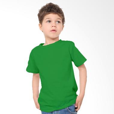 KaosYES Kaos Polos T-Shirt Anak - Hijau Tua