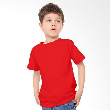 KaosYES Kaos Polos T-Shirt Anak - Merah