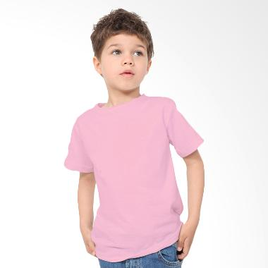 KaosYES Kaos Polos T-Shirt Anak - Pink