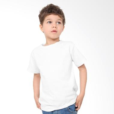 KaosYES Kaos Polos T-Shirt Anak - Putih