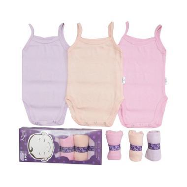 Kazel Tanktop Jumper Pakaian Dalam Bayi Perempuan - Pastel