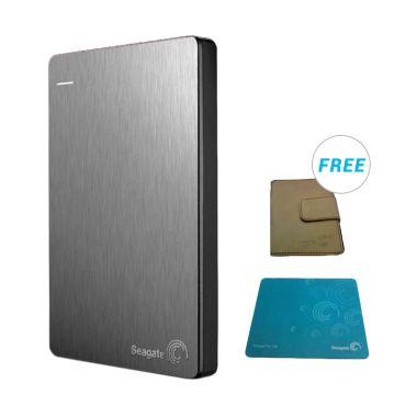 Seagate Backup Plus 1 TB Silver Harddisk Eksternal - Bonus
