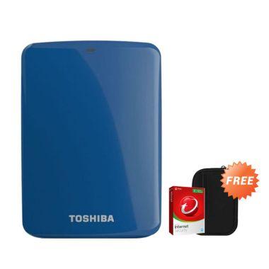 Toshiba Canvio Connect 1 TB Biru Ha ...