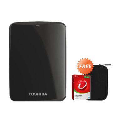 Toshiba Canvio Connect 500 GB Hitam ...