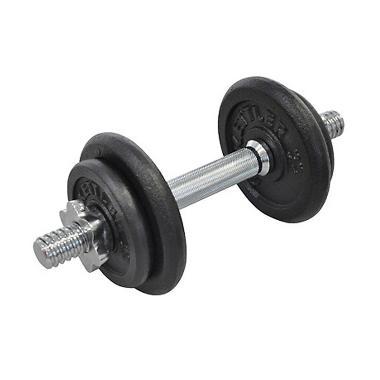 Kettler 0870 Set Dumbell Barbel Cast Iron [10 kg]