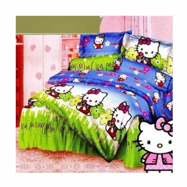 King Katun Motif Hello Kitty Garden Sprei