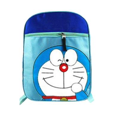 Korean School Doraemon Backpack Anak - Blue
