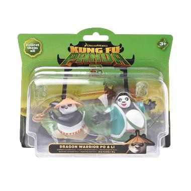 Kung Fu Panda 3 - Collectible Figurine Twin Pack Dragon Warrior Po & Li