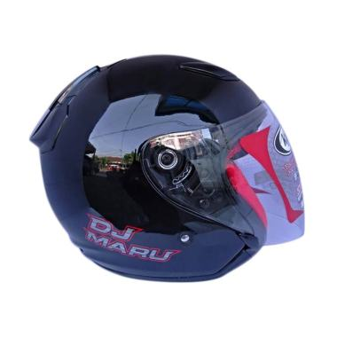 KYT DJ Maru Black Metalik Helm Half Face
