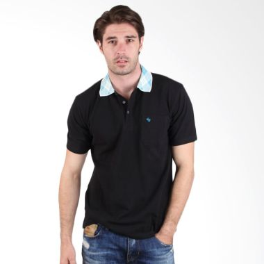 Labette Polo Shirt Black With Print ...