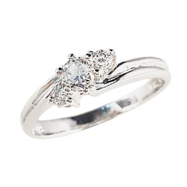 Lavish R13278 Berlian Emas Putih Cincin [18 K]