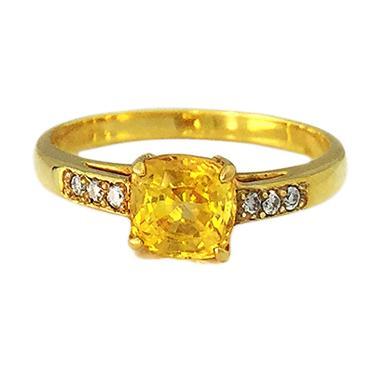 Lavish R13364 Berlian Emas Kuning Cincin [20 K]