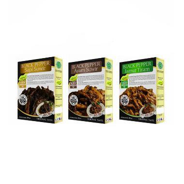 Beli Paket 3 Black Pepper Makanan Instan [Diskon 10%]