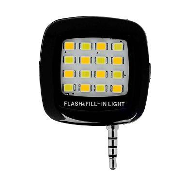 harga LED Flash & Fill-In Light Lampu Selfie for Smartphone - Hitam Blibli.com