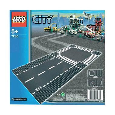 LEGO City 7280 Straight & Crossroad Plates Mainan Anak