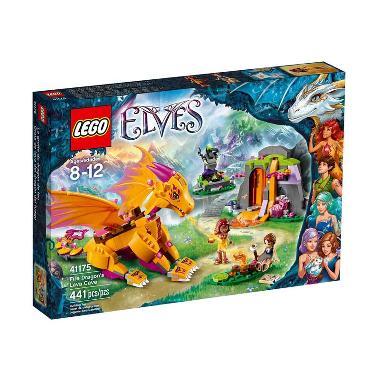 LEGO Elves 41175 Fire Dragon's Lava Cave Mainan Blok & Puzzle
