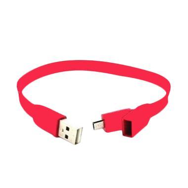 Lexcron Gelang Flat Micro USB - Merah