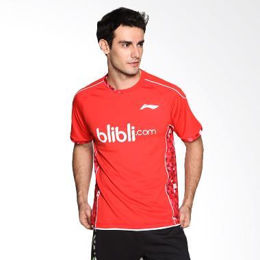Li-Ning ATSL281-1BIL Red Kaos Badminton Pria