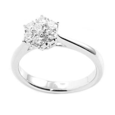 LINO P1605110004 Berlian Emas Putih Cincin 18K