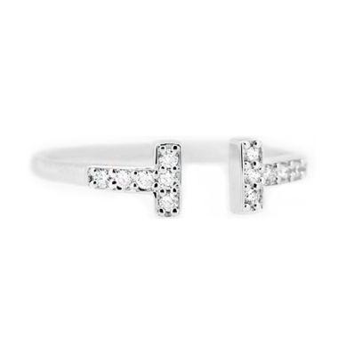 LINO P1508210122 Berlian Emas Putih Cincin [18 K]