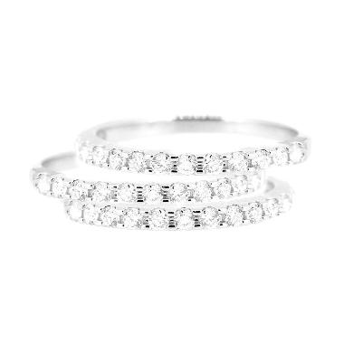 LINO P1604260006 Cincin Berlian Emas Putih 18 K
