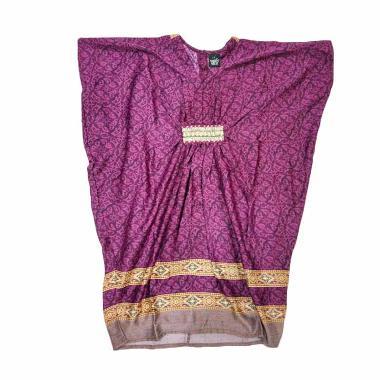 Little Superstar Fatimah Caftan Batik Dress Anak - Purple