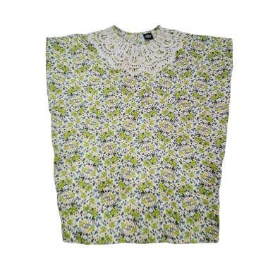 Little Superstar Khamilah Caftan Flower Pakaian Anak Perempuan - Green