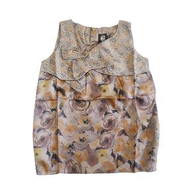 Little Superstar Oily Batik Ungu Dress Anak