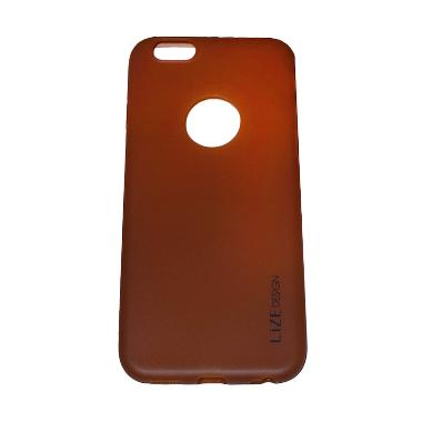 Lize Silicon Softcase Casing for iP ... 6 SE/6 - Brown [5.5 Inch]
