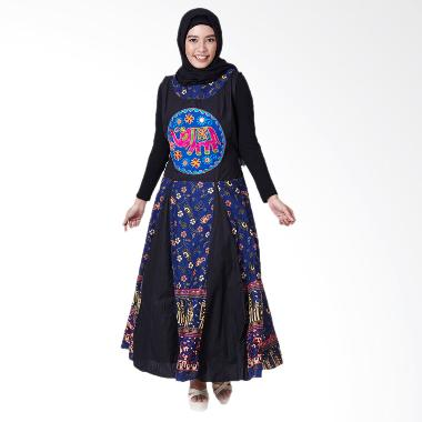Loe'Style Elephant Bangkok Dress Muslim - Black Blue