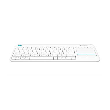 Logitech K400 Plus Wireless Touch Keyboard - Putih