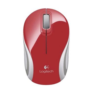 Logitech M187 Wireless Mouse - Merah