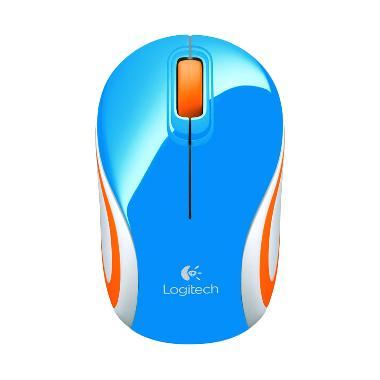 Logitech M187 Biru Wireless Mouse