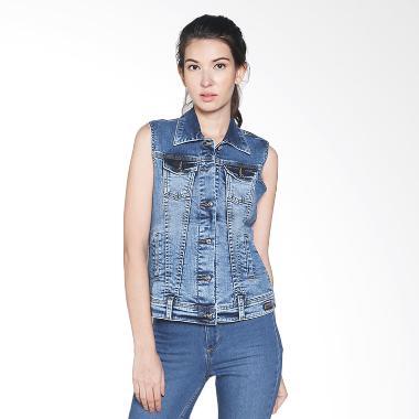 Lois Girl Denim Jacket WJV 116 Rompi Wanita - Blue