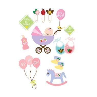 Lolitattoo Baby Girl Shower LK0121 Tato Temporer