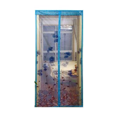 Lotusshops Anggrek Elegant Tirai Pintu Magnet - Biru
