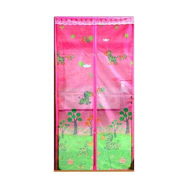 Lotusshops Baby Zebra [X] Exclusive Pink Tirai Pintu Magnet